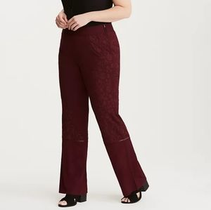 Torrid Insider Collection Embroidered Flare Pants